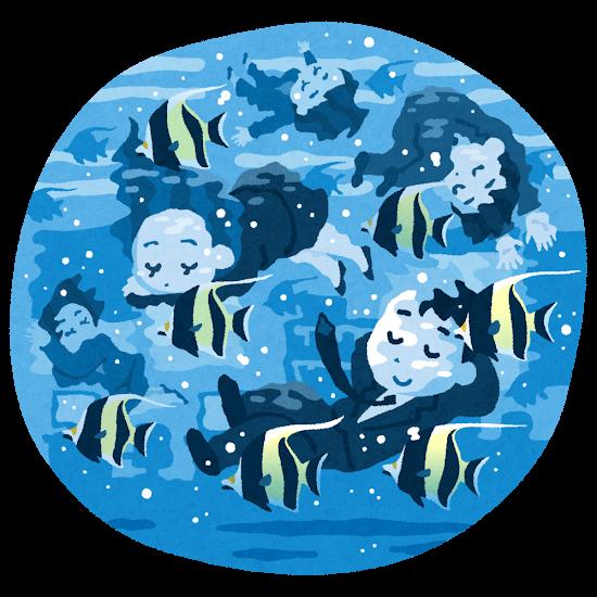 水の中の会社員