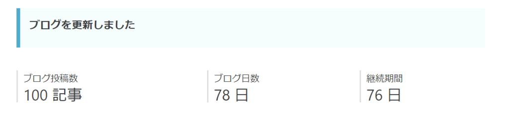 100記事突破
