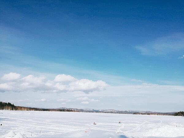 朱鞠内湖のワカサギ