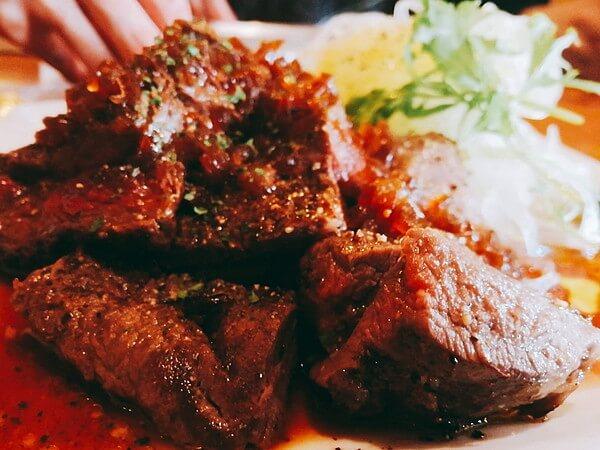 喫茶店アポロの鹿肉