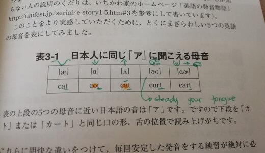 英語耳でわかった日本人のアの発音