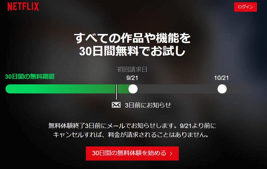 Netflixの登録手順1:公式サイトにアクセスする