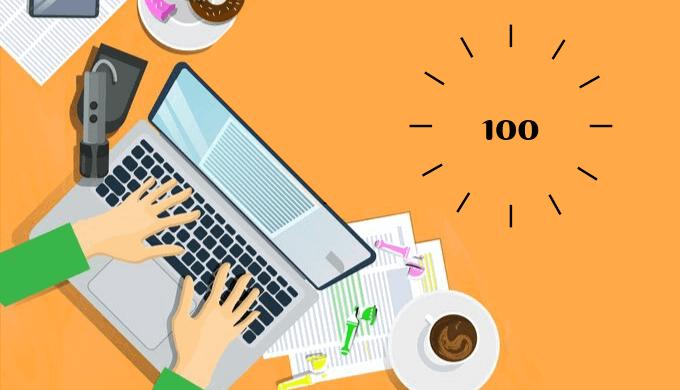 雑記ブログ100記事達成。PV数と収益と毎日更新のコツまとめ。