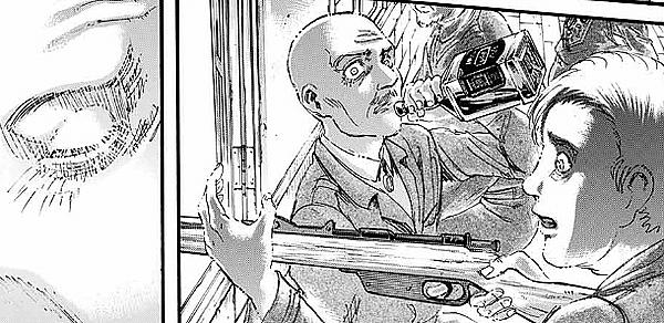 進撃の巨人ピクシス司令の表情